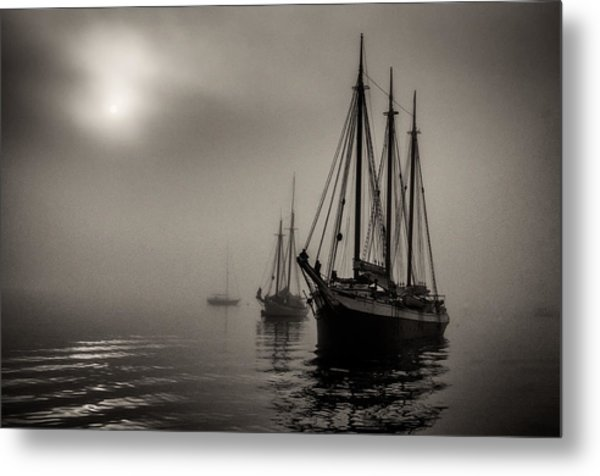 Downeast Fog 1 Metal Print