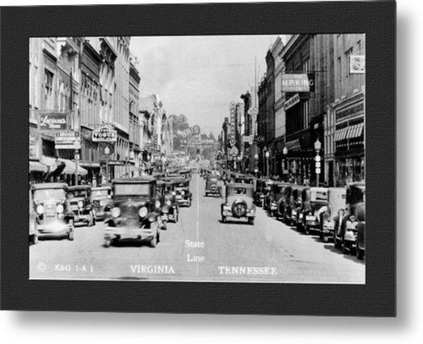 Downtown Bristol Va Tn 1931 Metal Print