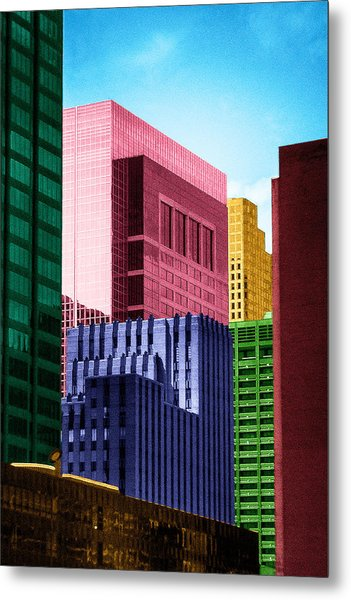 Downtown Building Blocks Metal Print