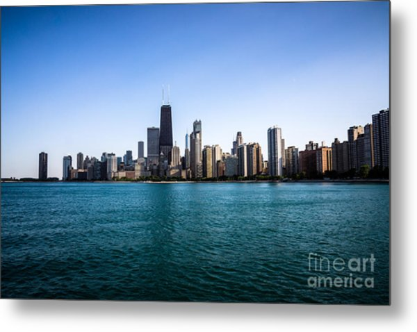 Downtown City Buildings In The Chicago Skyline Metal Print