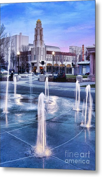 Downtown City Plaza Chico California Metal Print