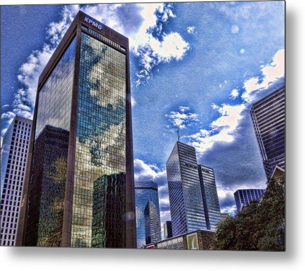 Downtown Dallas Metal Print