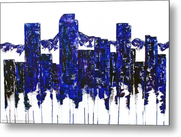 Downtown Denver Abstract Metal Print