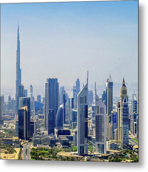 Downtown Dubai Metal Print by Joseph Plotz