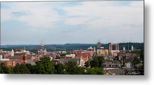 Downtown Dubuque Metal Print