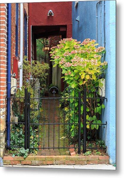 Downtown Garden Path Metal Print