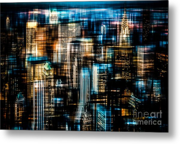 Downtown II - Dark Metal Print