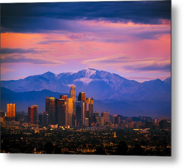 Downtown Los Angeles After Sunset Metal Print