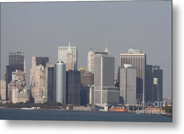 Downtown Manhattan Shot From The Staten Island Ferry Metal Print
