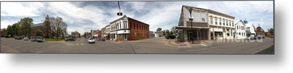 Downtown Montezuma Iowa Panorama Metal Print by Gregory Dyer