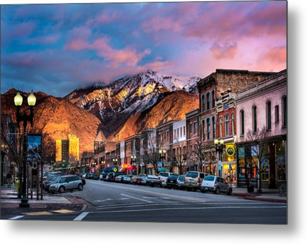 Downtown Ogden Utah Metal Print