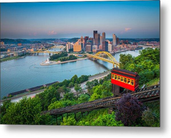 Downtown Pittsburgh, Pennsylvania Metal Print by HaizhanZheng