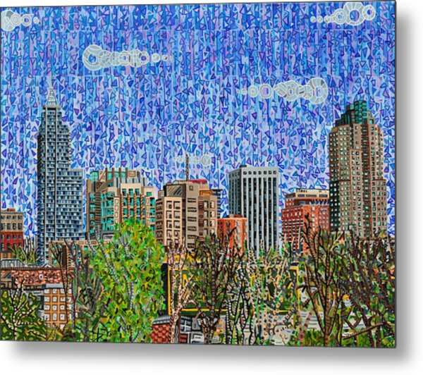 Downtown Raleigh - View From Boylan Street Bridge Metal Print by Micah Mullen