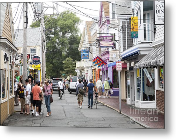 Downtown Scene In Provincetown On Cape Cod In Massachusetts Metal Print