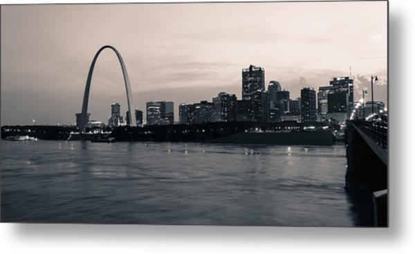 Downtown St. Louis In Twilight Metal Print