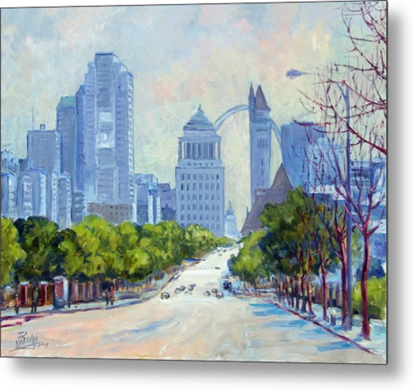 Downtown St.louis From Market Street Metal Print