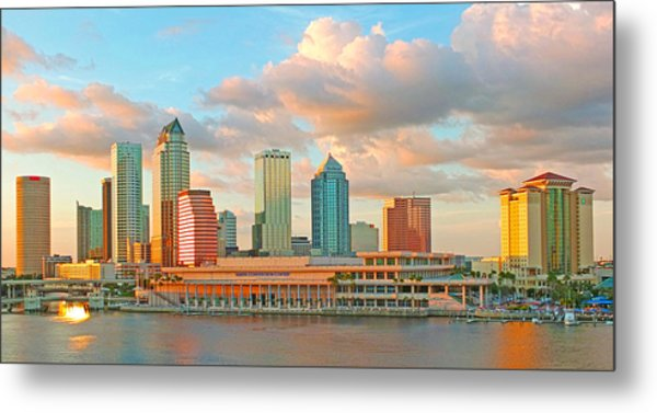 Downtown Tampa Skyline Metal Print