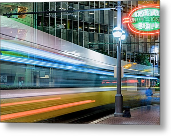 Downtown Train Metal Print