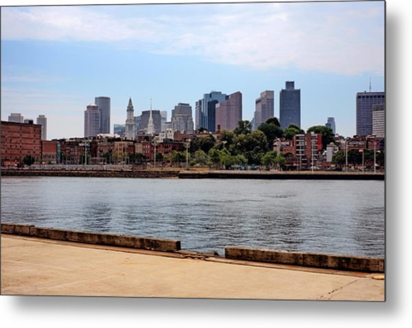Downtown View In Boston Metal Print