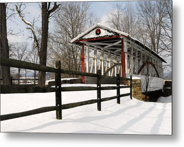 Dr Knisely Covered Bridge Metal Print