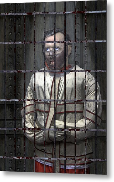 Dr. Lecter Restrained Metal Print