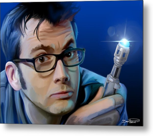 Dr. Who Metal Print