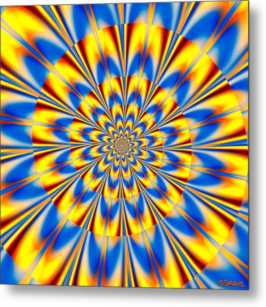 Dr. Who's Spiral Of Time Metal Print