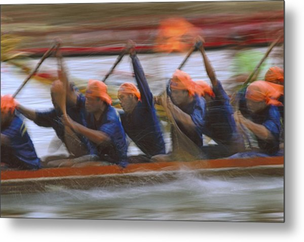 Dragon Boat Racing Thailand Metal Print