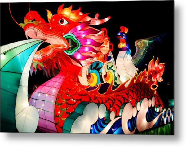 Dragon Float Metal Print