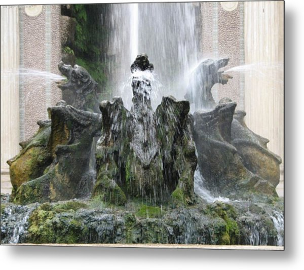 Dragon Fountain Metal Print