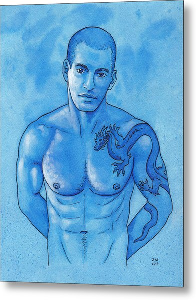 Dragon Ink Metal Print by Rudy Nagel