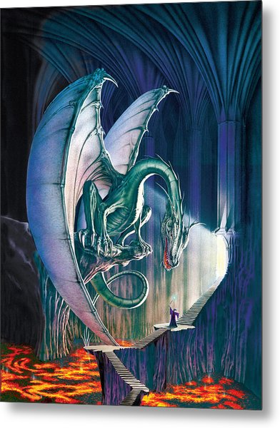 Dragon Lair With Stairs Metal Print