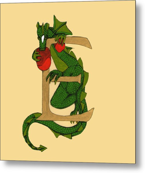 Dragon Letter E Metal Print