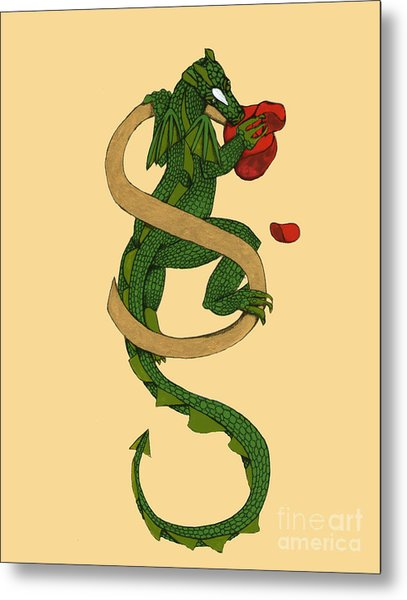 Dragon Letter S Metal Print