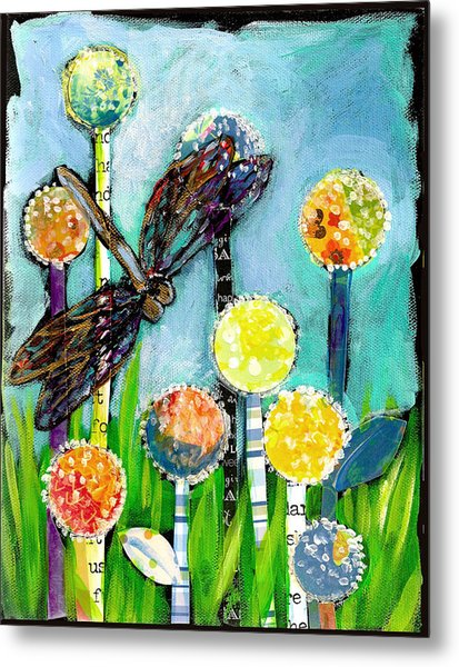 Dragonfly And The Dandies Metal Print