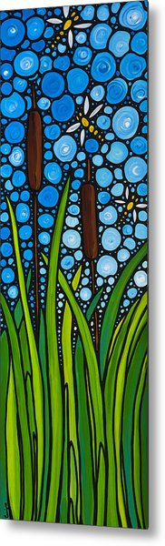 Dragonfly Pond By Sharon Cummings Metal Print