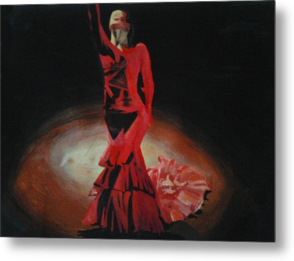 Dramatic In Scarlet Metal Print
