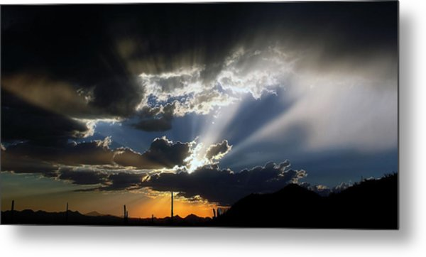 Dramatic Monsoon Sunset Metal Print
