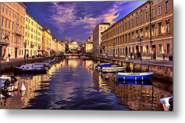 Dramatic Skies Over Trieste Metal Print