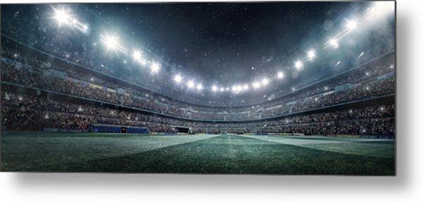 Dramatic Soccer Stadium Panorama Metal Print by Dmytro Aksonov