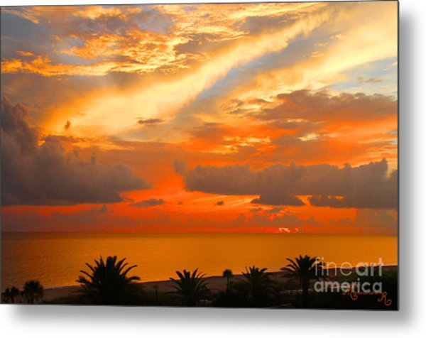 Dramatic Sunset Metal Print