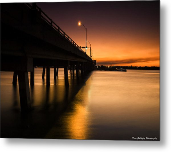 Drawbridge At Sunset Metal Print