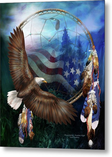 Dream Catcher - Freedom's Flight Metal Print