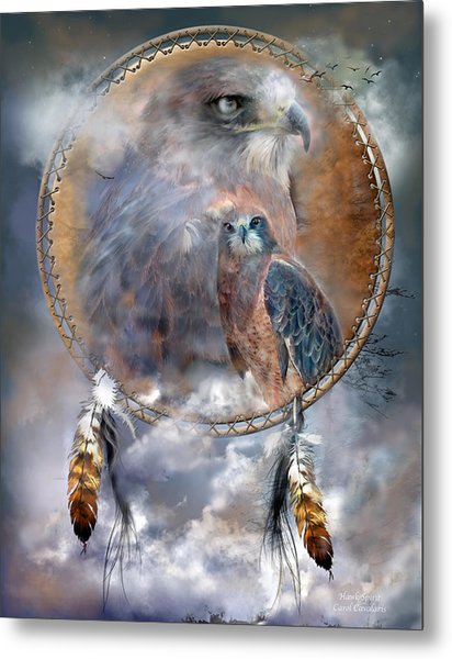Dream Catcher - Hawk Spirit Metal Print