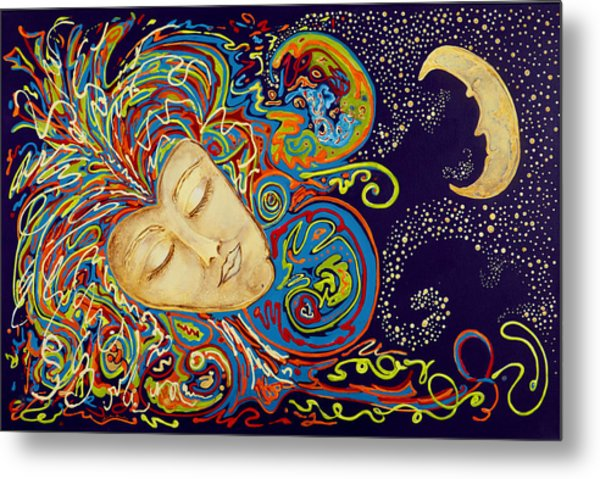 Dream Mask Metal Print by Nickie Bradley