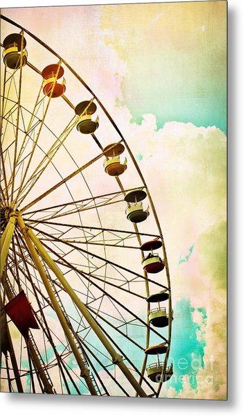 Dreaming Of Summer - Ferris Wheel Metal Print