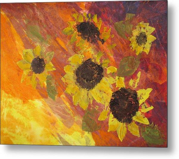 Dreaming Sunflowers Metal Print