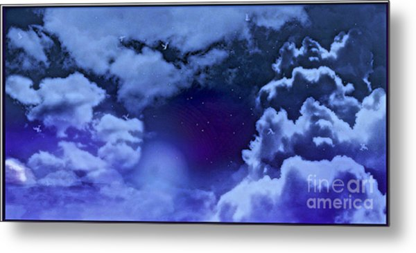 Dreamy Night Metal Print by Sheikh Designs