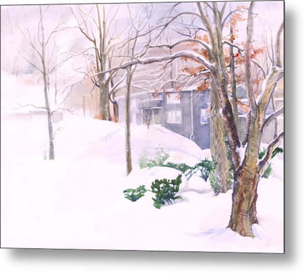 Dressed In Winter White Metal Print