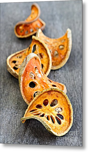 Dried Bael Fruit Metal Print
